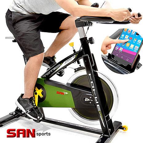 【SAN SPORTS】戰車18KG飛輪健身車
