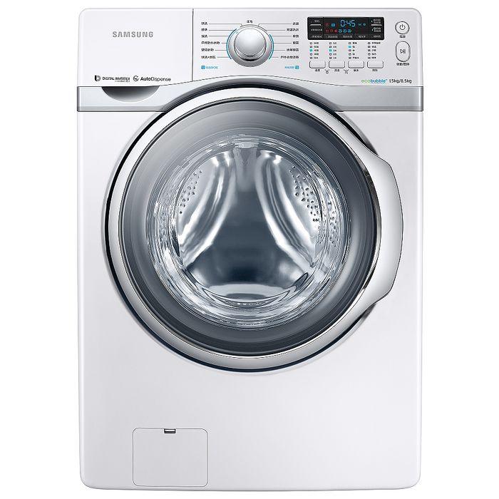 SAMSUNG 三星 15公斤 雙效威力淨變頻洗脫烘滾筒洗衣機 WD15H7300KW/TW