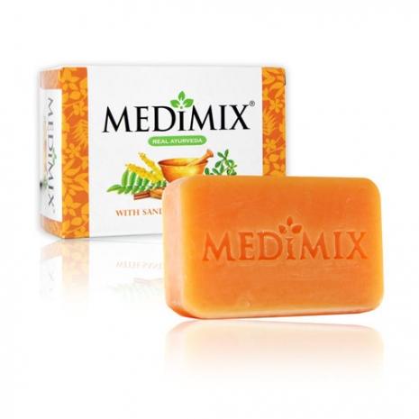印度Medimix美秘使 手工香皂 -潤膚檀香皂125g