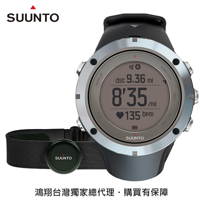 SUUNTO Ambit3 Peak Sapphire HR進階戶外探險與多項目運動GPS腕錶-黑