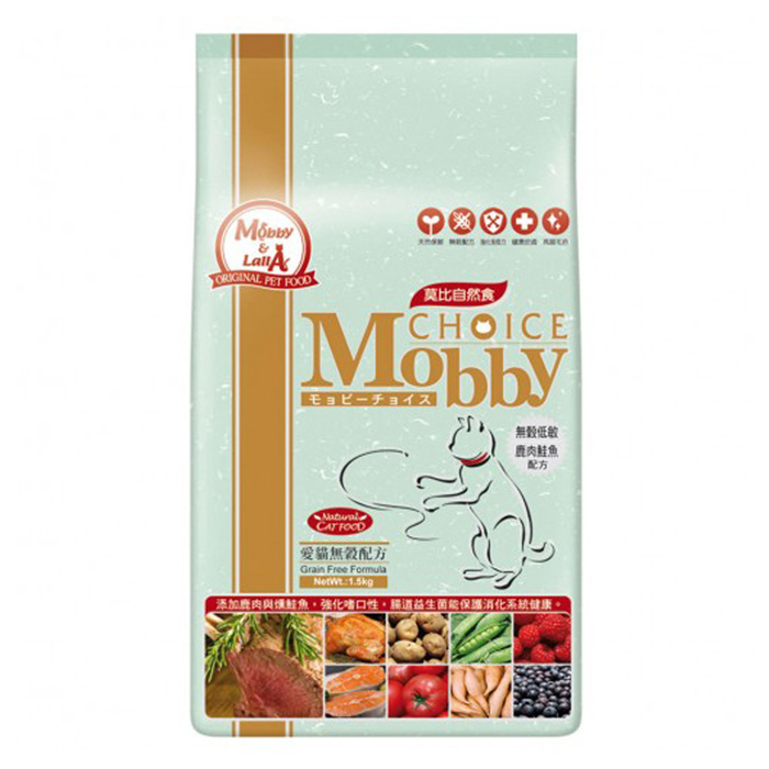 【Mobby莫比】愛貓無穀配方鹿肉鮭魚3kg