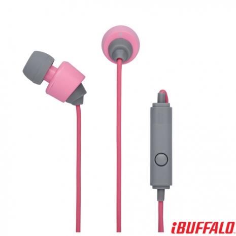 Buffalo 12系列 智慧型手機專用耳麥-粉紅