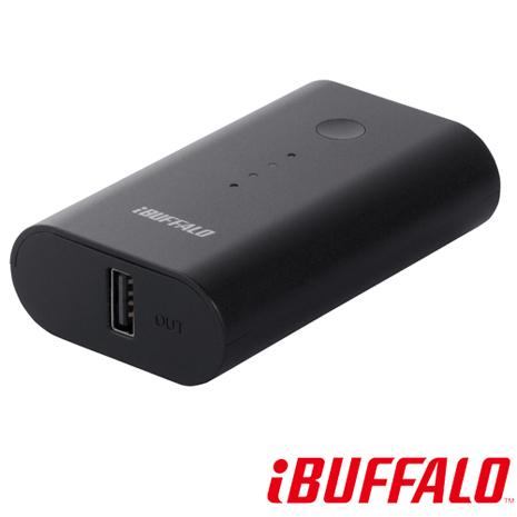 【BUFFALO】 快速充電 5200 mAh 2.1A 行動電源(BSMPB09)-黑