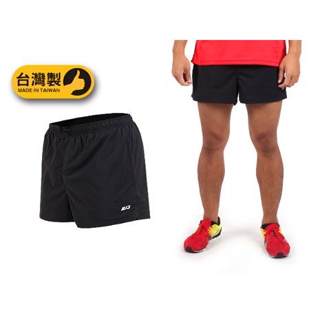 【MJ3】男運動短褲-慢跑 路跑 風褲 三分褲 台灣製 黑