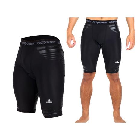【ADIDAS】男緊身短褲  黑