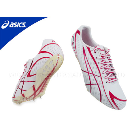 【ASICS】JAPAN LITE-NING 3 男短距離田徑釘鞋 白紅