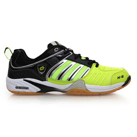 【LOTTO】男羽球鞋-羽毛球 黑螢光綠