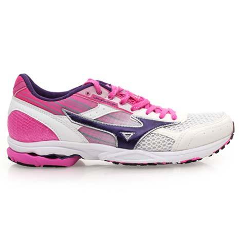 【MIZUNO】WAVE SPACER DYNA 2 女路跑鞋- 慢跑 美津濃 白粉紫