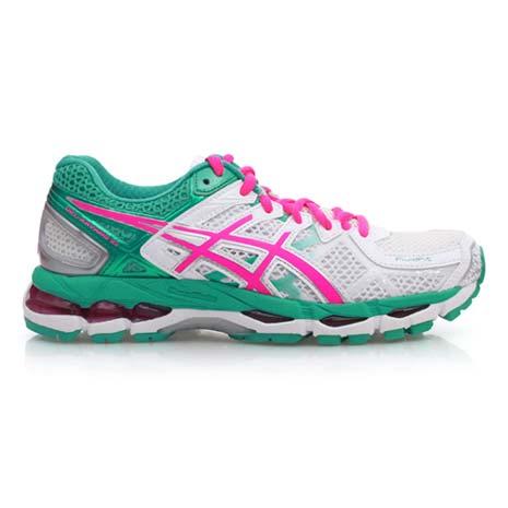 【ASICS】GEL-KAYANO 21 女慢跑鞋- 路跑 亞瑟士 白綠粉