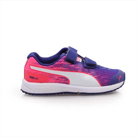 【PUMA】FAAS 300 V4 V KIDS 男女兒童慢跑鞋-運動鞋 紫粉紅