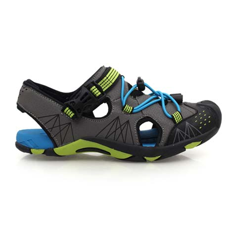 【DIADORA】男女童運動涼鞋-排水 拖鞋 休閒涼鞋 藍綠