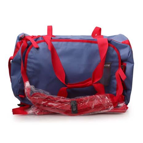 【THE NORTH FACE】功能裝備袋-72L後背包側背包手提袋  淺藍紅