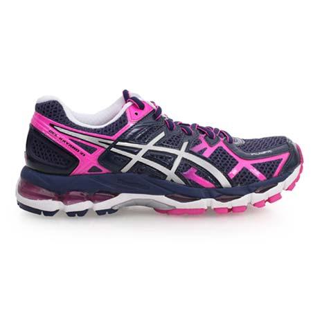 【ASICS】GEL-KAYANO 21-WIDE 女慢跑鞋- 2E寬楦 亞瑟士 深藍桃紅