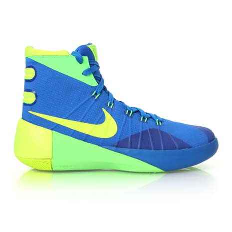 【NIKE】HYPERDUNK 2015-GS 男女大童籃球鞋-高筒 寶藍螢光綠
