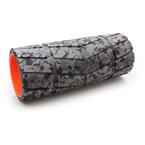 【NIKE】輔助滾筒-瑜珈滾輪 瑜珈柱 按摩滾輪 訓練 迷彩灰