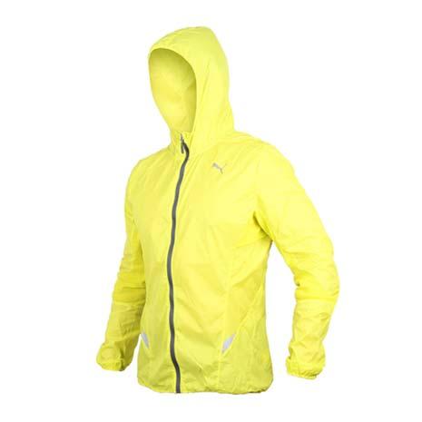 【PUMA】男慢跑系列素色輕量連帽風衣外套- 路跑 防風 休閒外套 芥末黃灰