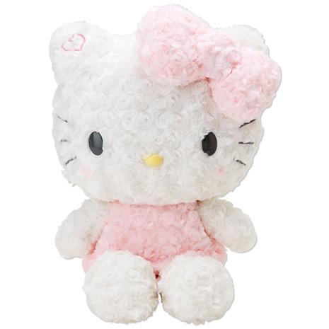 Hello Kitty 玫瑰絨毛娃娃
