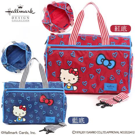 HELLO KITTY × Hallmark聯名收納旅行袋-滿版愛心
