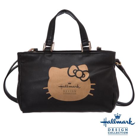 HELLO KITTY × Hallmark聯名兩用手提包-黑金凱蒂