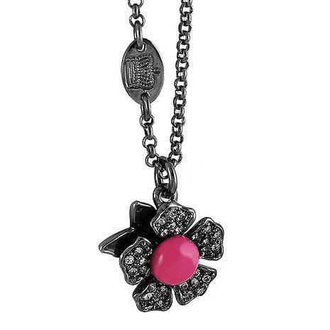 JUICY COUTURE 花朵造型晶鑽鑲嵌項鍊