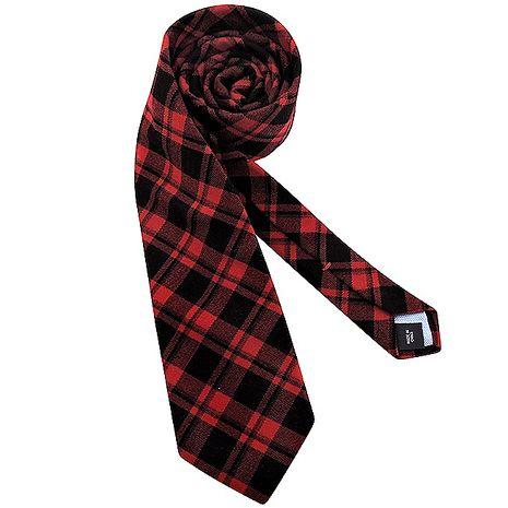 TOMMY格紋造型領帶-紅色(app)