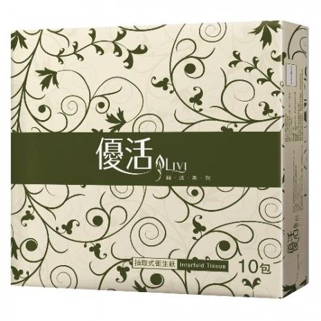 Livi優活抽取式衛生紙100抽x10包x10串/箱