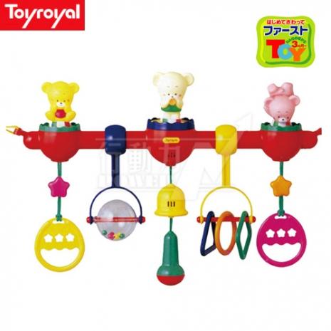 日本《樂雅 Toyroyal》嬰兒床專用健力架