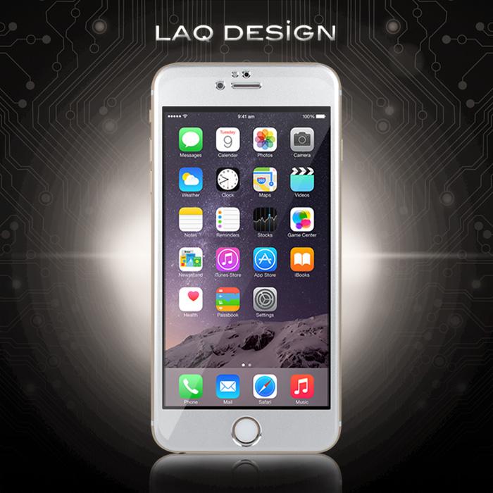 LAQ DESIGN iPhone 6s / 6 (4.7吋) 鋁合金滿版鋼化玻璃保護貼
