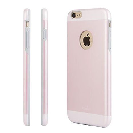 moshi iGlaze  iPhone 6/6S 4.7吋 超薄時尚保護背殼(粉)