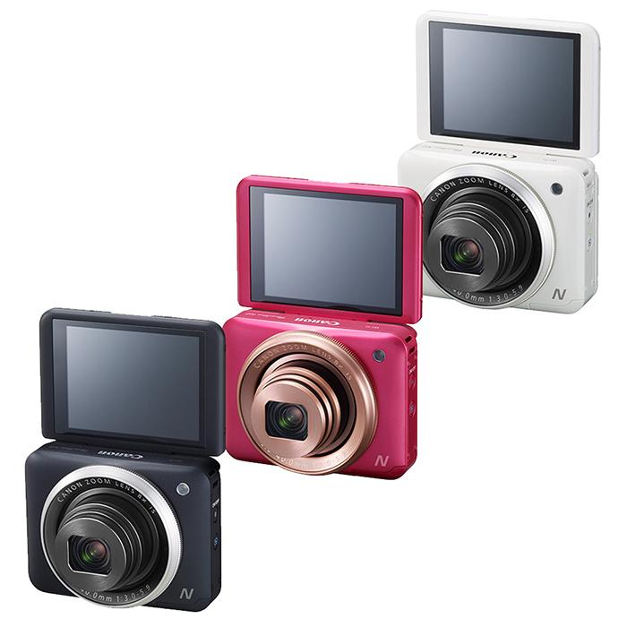 Canon N2 數位相機(公司貨)內附原套!粉餅外型!Wi-Fi!自拍!8/31前申請送原廠電池