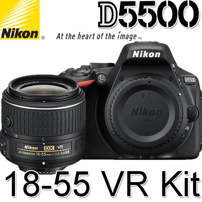 Nikon D5500 AF-P 18-55 VR Kit(公司貨)8/31前登錄送原廠電池+Nikon運動組