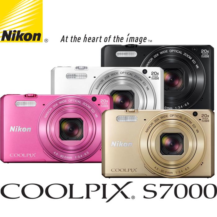 Nikon S7000數位相機(公司貨)內附相機套Wi-Fi!20倍光學變焦!贈16G SD記憶卡!