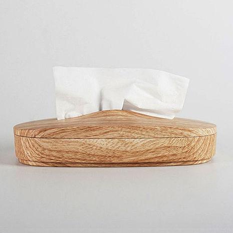 【文創精品】神奇伸縮面紙盒(仿木紋)-1入