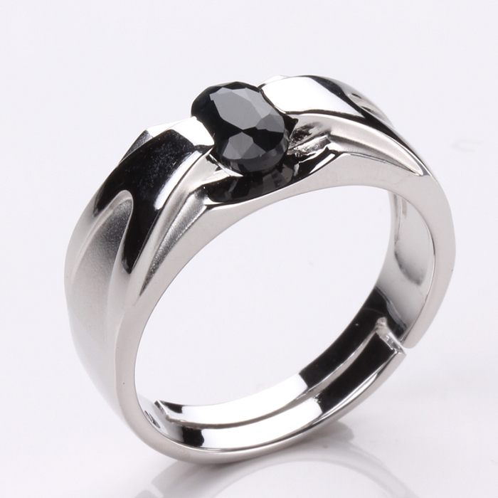 【雅紅珠寶】比翼雙飛天然0.5克拉黑藍寶石戒指-活圍設計