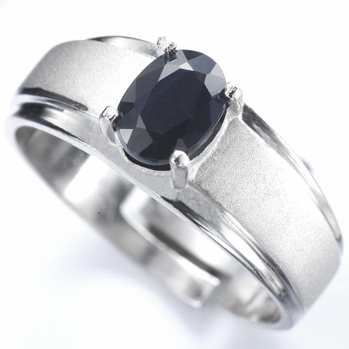 【雅紅珠寶】真情相愛1克拉天然黑藍寶石戒指-活圍設計