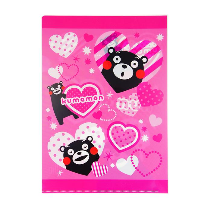 【酷ma萌 熊本熊 kumamon】A4 L夾- 粉紅甜心
