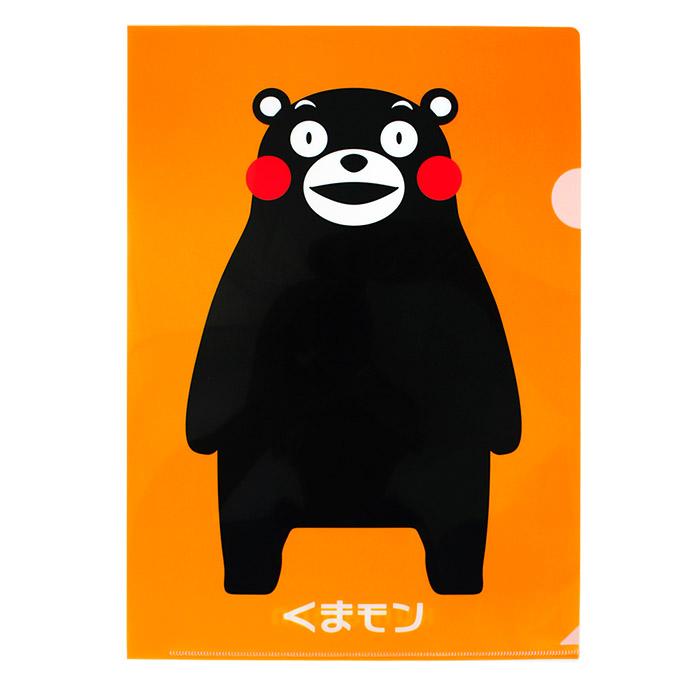 【酷ma萌 熊本熊 kumamon】A4 L夾文件夾- 橘底經典款