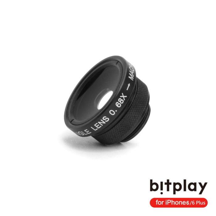 bitplay SNAP6 金屬質感擬真相機快門拍照手機殼專用鏡頭組-廣角+微距(2in1)鏡頭組