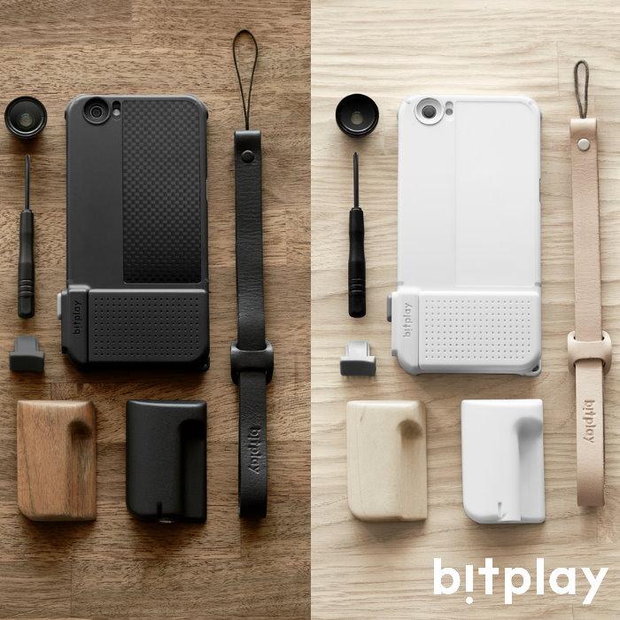bitplay SNAPPRO iPhone6S/6 4.7吋 最好玩超專業相機快門手機殼-精裝版(附木質把手及真皮腕繩)