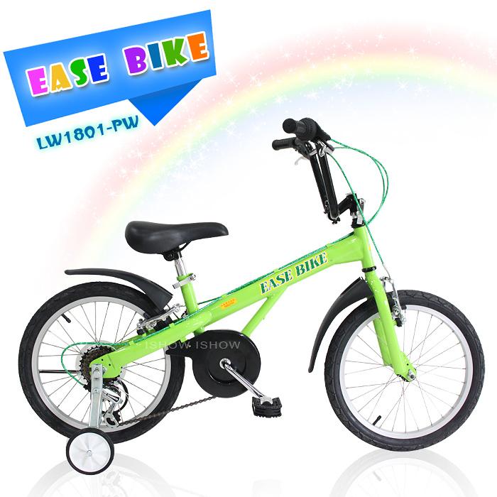 EASE BIKE 18吋6速 SHIMANO 巨輪多功能休閒車 輔助輪 童車
