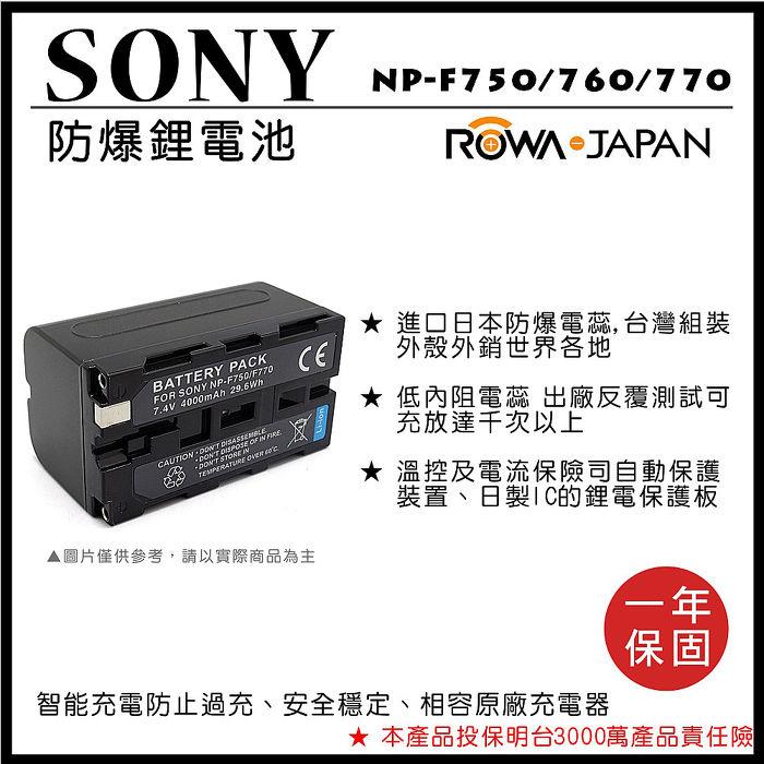 樂華 SONY NP-F750 / 760 / 770電池 電量顯示 攝影燈 補光燈 F750