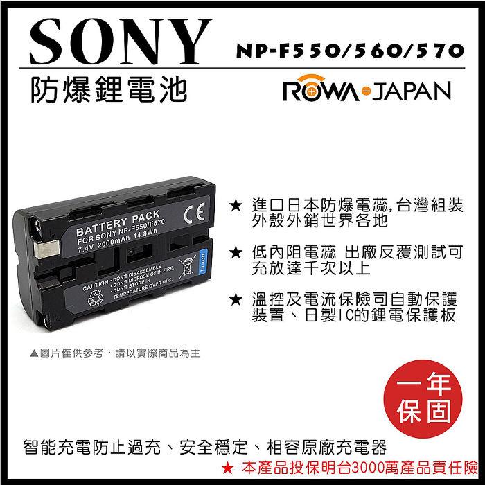 樂華 SONY NP-F550 / 560 / 570電池 電量顯示 攝影燈 補光燈 F750 保固一年 公司貨