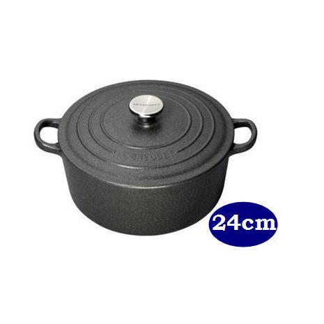 LE CREUSET 鑄鐵圓鍋 24cm 岩石灰 (鋼頭)