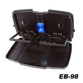 【預購】日本SEIKOSANGYO 多功能後座餐飲架(附燈) EB-98