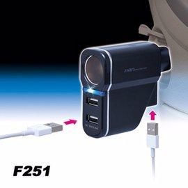 【預購】日本SEIWA 2.4A+2.4A USBx3+單孔 直插式 電源插座擴充器 F251