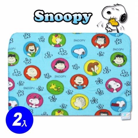 【預購】【myfone會員加碼送】Snoopy 史奴比 夏日園趣刷毛小蓋毯 冷氣毯(2入)