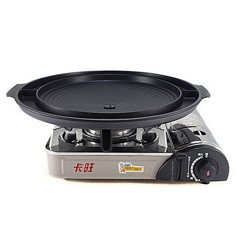 卡旺-遠紅外線瓦斯爐K1-1200V+韓國大理石雙用圓烤盤NY2499