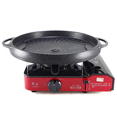 歐王卡式休閒爐JL-168+韓國大理石不沾圓形烤盤NY1160