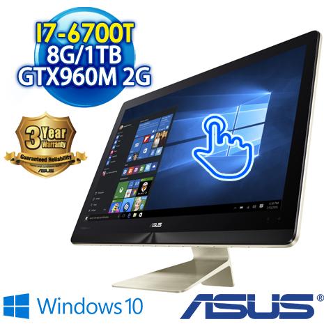 ★筆電瘋狂購★ASUS AIO Z240ICGT-670GF005X 23.8吋10點觸控桌上型電腦(i7-6700T/8G DDR4/1TB/GTX960M-2G/WIN10)