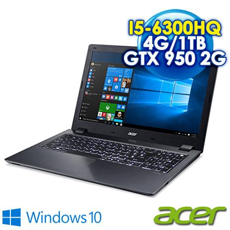 ★筆電瘋狂購★ACER V5-591G-598J  15.6吋FHD 黑(I5-6300HQ/4GB DDR4/1TB 7200轉/GTX 950 2G/Win10)